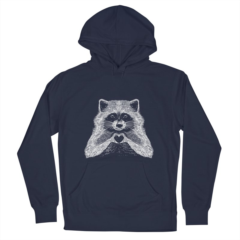 Love Raccoon Men's French Terry Pullover Hoody by barmalisiRTB