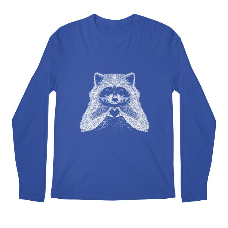 Love Raccoon Men's Regular Longsleeve T-Shirt by barmalisiRTB