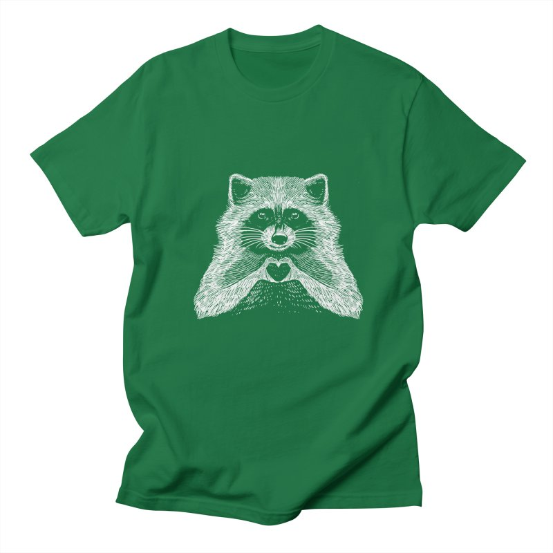 Love Raccoon Men's T-Shirt by barmalisiRTB