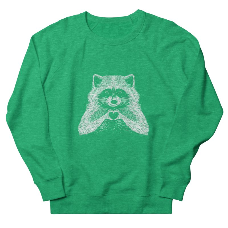 Love Raccoon Women's French Terry Sweatshirt by barmalisiRTB