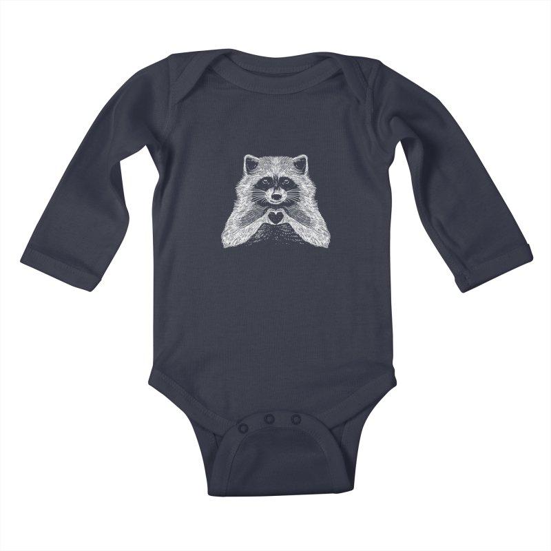 Love Raccoon Kids Baby Longsleeve Bodysuit by barmalisiRTB