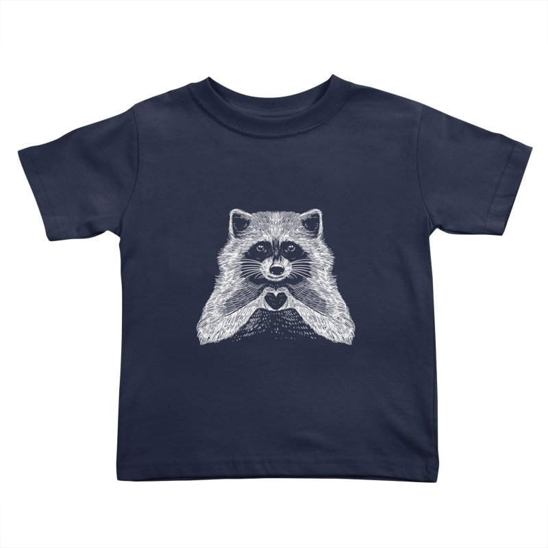 Love Raccoon Kids Toddler T-Shirt by barmalisiRTB