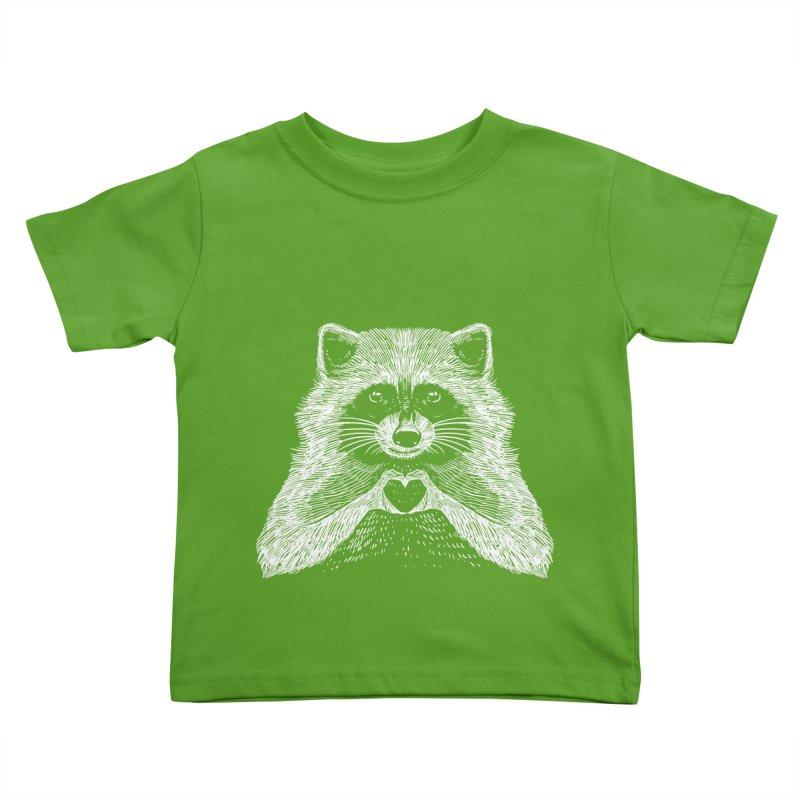 Love Raccoon Kids Toddler T-Shirt by barmalisiRTB