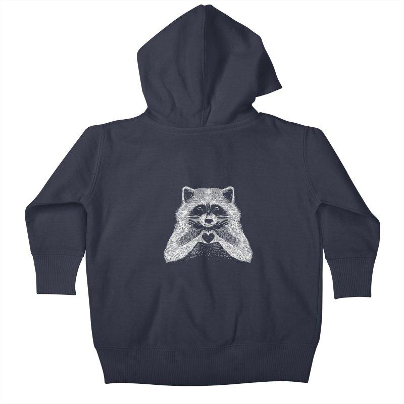 Love Raccoon Kids Baby Zip-Up Hoody by barmalisiRTB