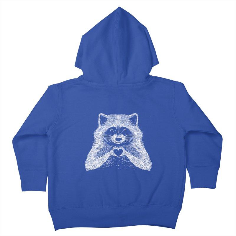 Love Raccoon Kids Toddler Zip-Up Hoody by barmalisiRTB