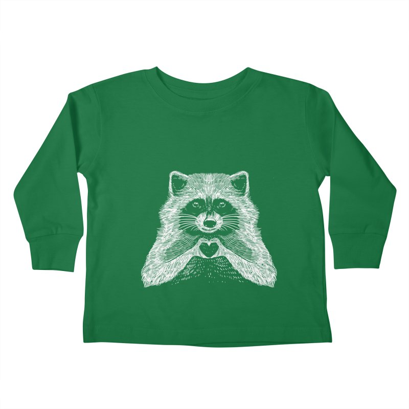 Love Raccoon Kids Toddler Longsleeve T-Shirt by barmalisiRTB