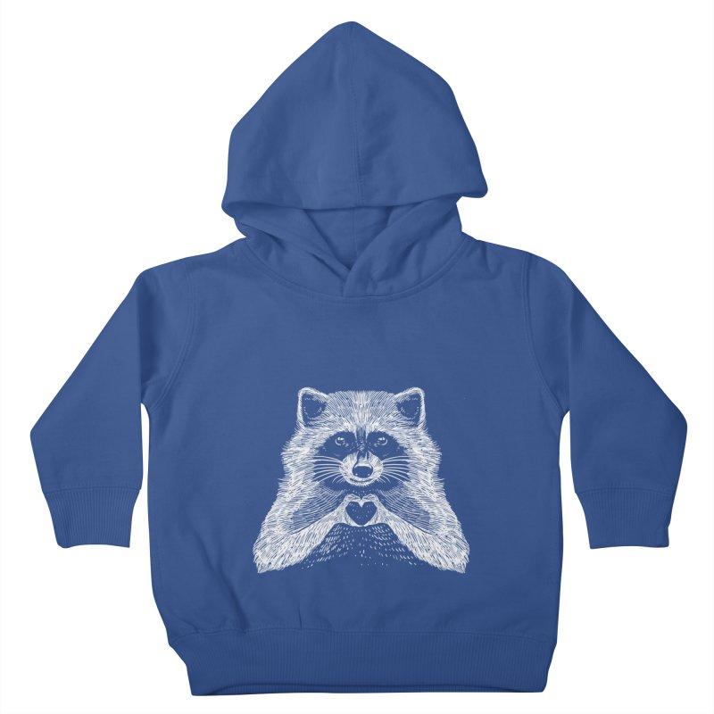 Love Raccoon Kids Toddler Pullover Hoody by barmalisiRTB