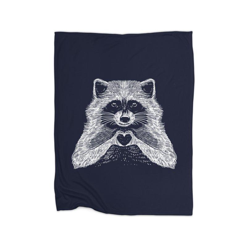 Love Raccoon Home Blanket by barmalisiRTB