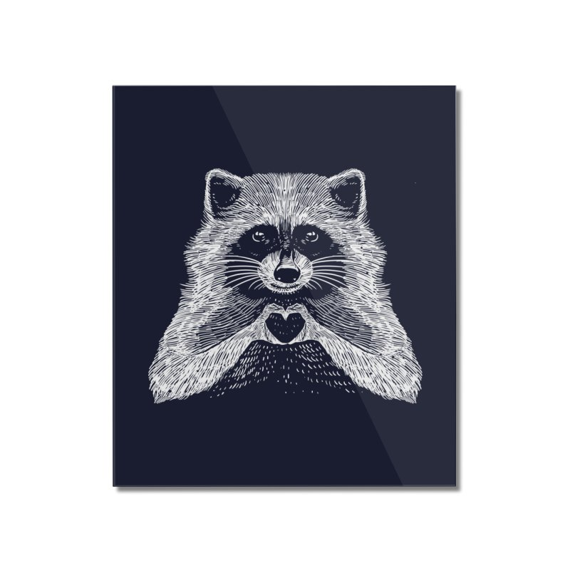 Love Raccoon Home Mounted Acrylic Print by barmalisiRTB