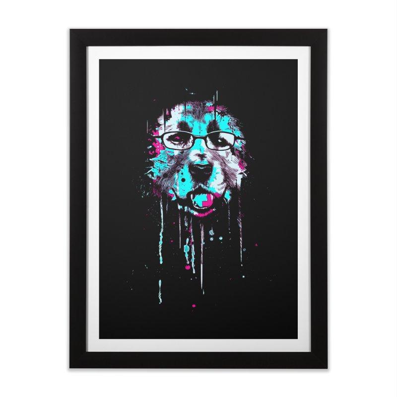 Dog with glasses Home Framed Fine Art Print by barmalisiRTB
