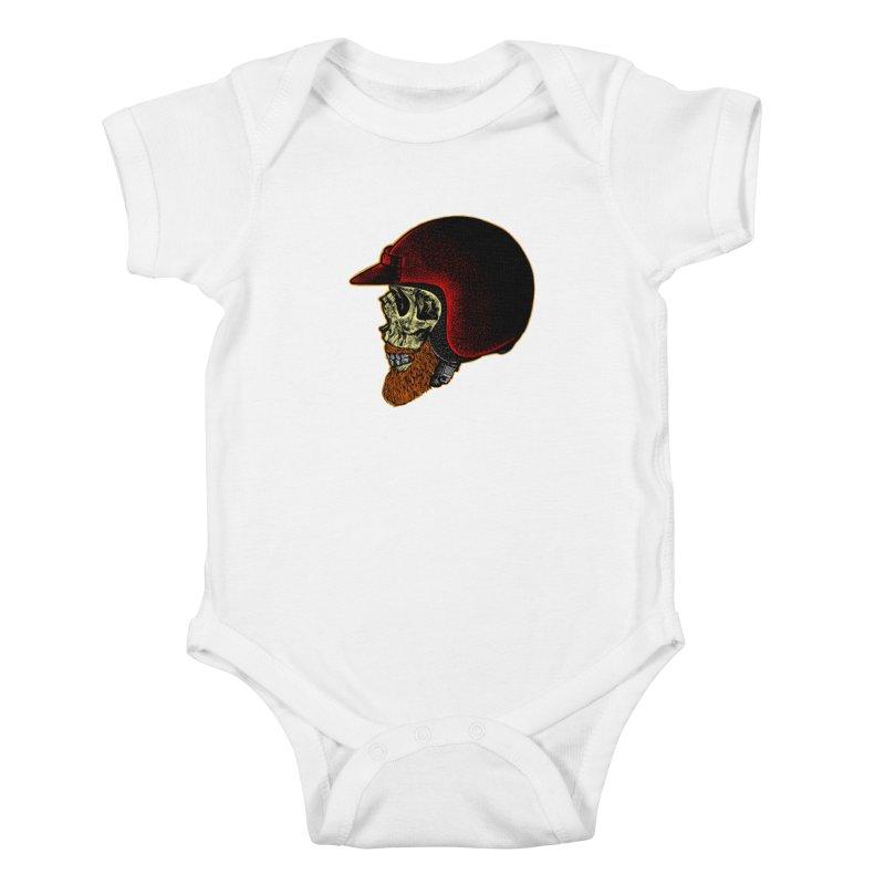 Mighty biker Kids Baby Bodysuit by barmalisiRTB