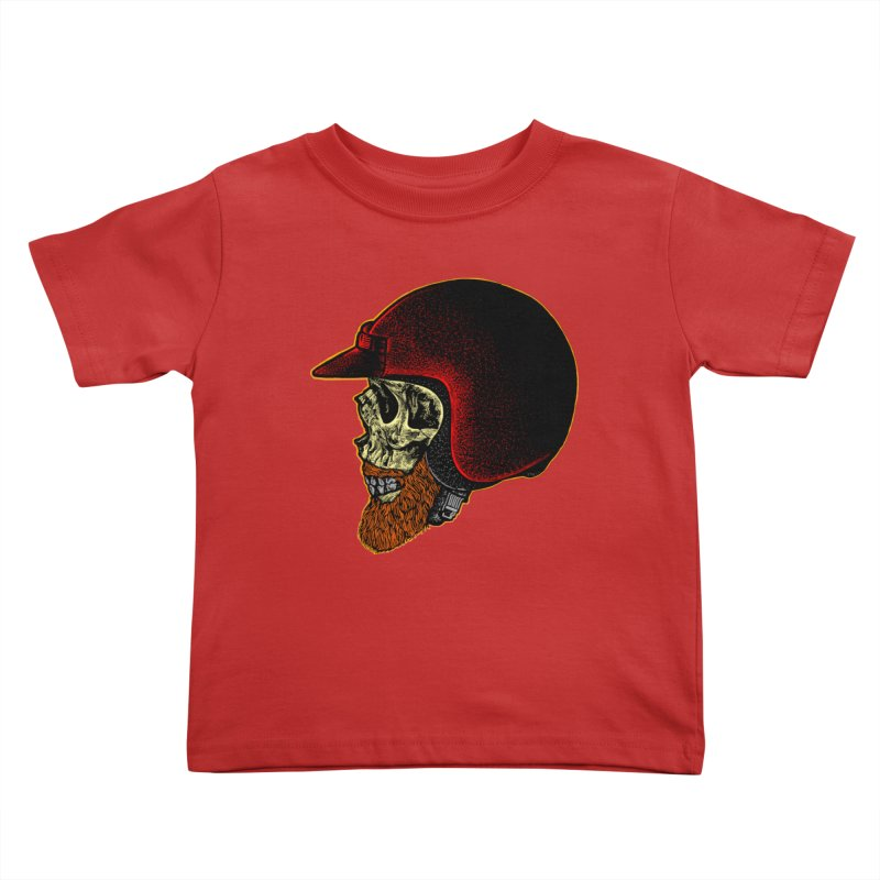 Mighty biker Kids Toddler T-Shirt by barmalisiRTB