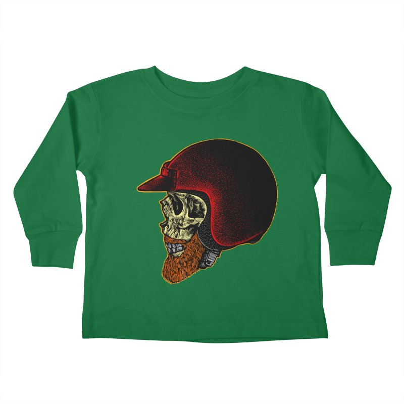 Mighty biker Kids Toddler Longsleeve T-Shirt by barmalisiRTB