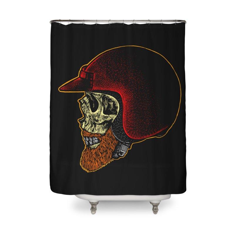 Mighty biker Home Shower Curtain by barmalisiRTB