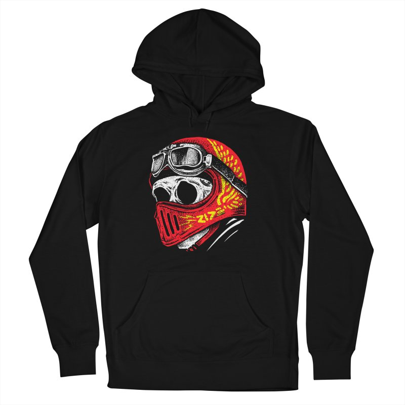 Ride Skull Men's French Terry Pullover Hoody by barmalisiRTB