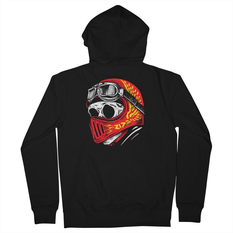 Ride Skull Men's French Terry Zip-Up Hoody by barmalisiRTB