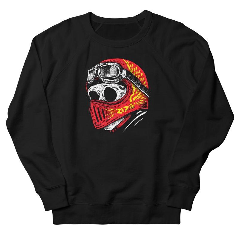 Ride Skull Men's French Terry Sweatshirt by barmalisiRTB