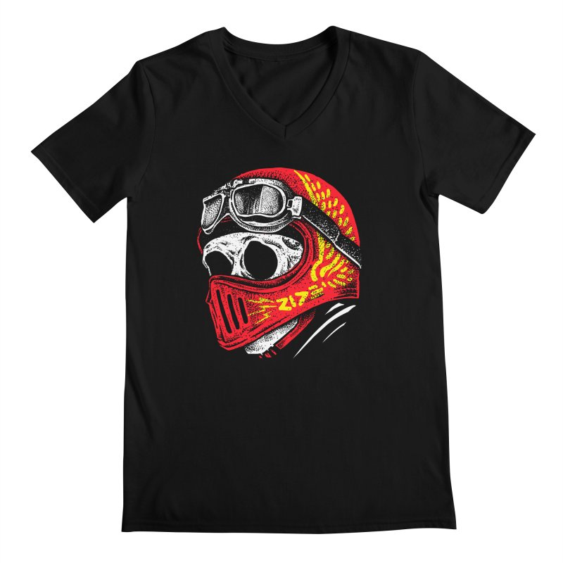 Ride Skull Men's Regular V-Neck by barmalisiRTB