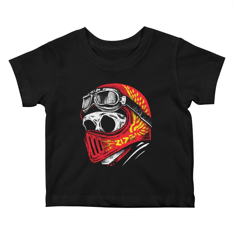Ride Skull Kids Baby T-Shirt by barmalisiRTB