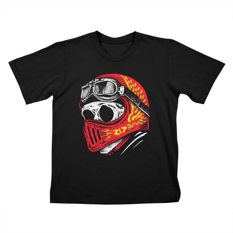 Ride Skull Kids T-Shirt by barmalisiRTB