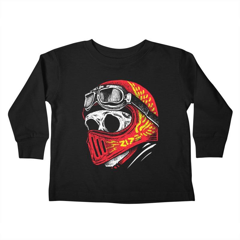 Ride Skull Kids Toddler Longsleeve T-Shirt by barmalisiRTB