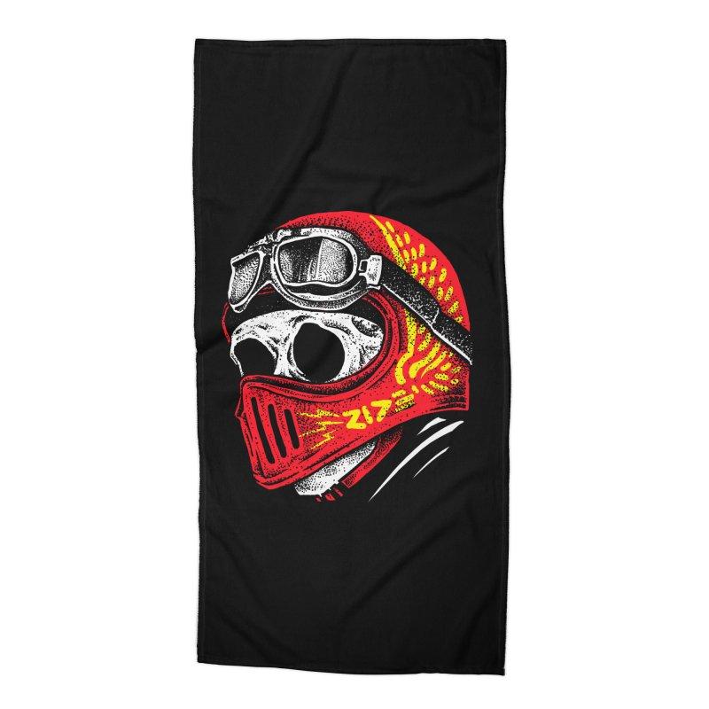 Ride Skull Accessories Beach Towel by barmalisiRTB