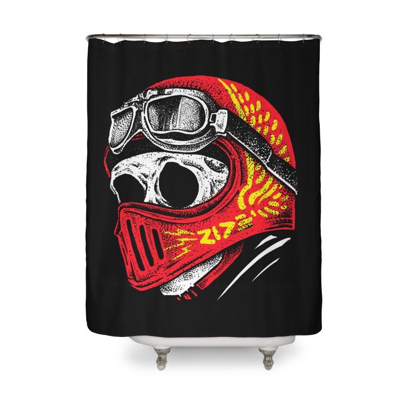 Ride Skull Home Shower Curtain by barmalisiRTB