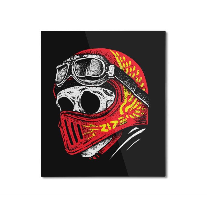 Ride Skull Home Mounted Aluminum Print by barmalisiRTB