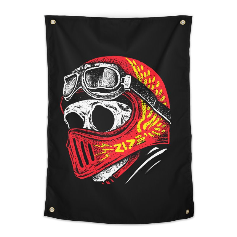 Ride Skull Home Tapestry by barmalisiRTB