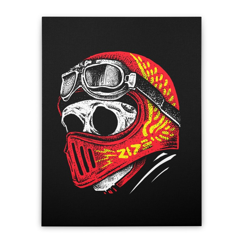 Ride Skull Home Stretched Canvas by barmalisiRTB