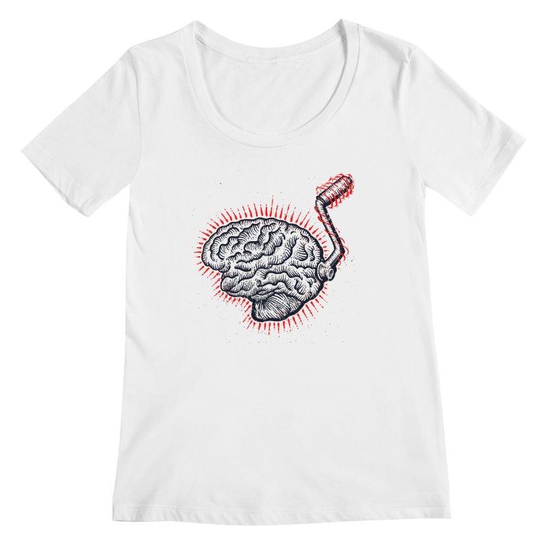 Brain Moto Women's Scoop Neck by barmalisiRTB