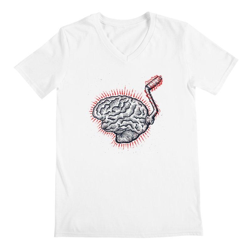 Brain Moto Men's V-Neck by barmalisiRTB