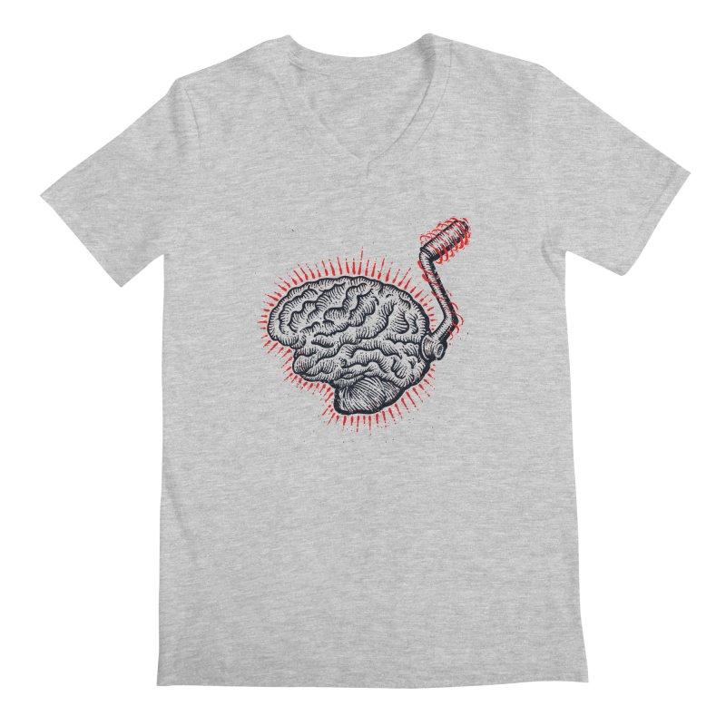Brain Moto Men's Regular V-Neck by barmalisiRTB