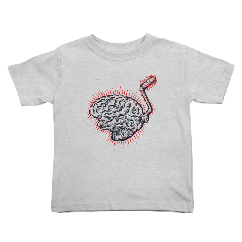 Brain Moto Kids Toddler T-Shirt by barmalisiRTB