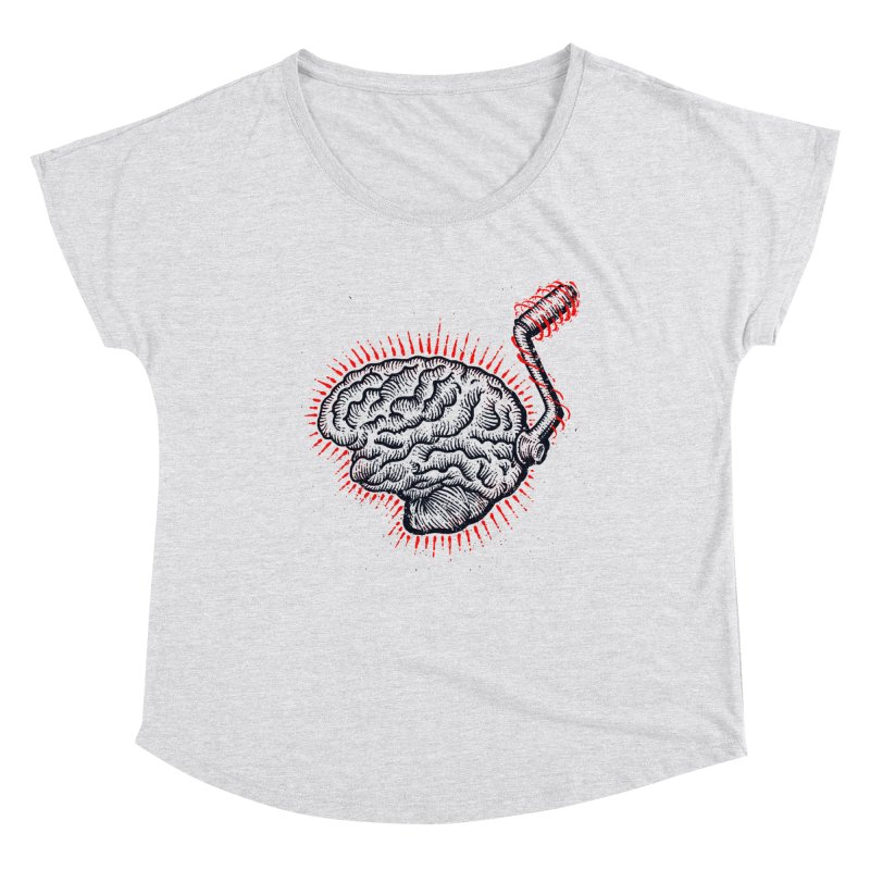 Brain Moto Women's Scoop Neck by barmalisiRTB