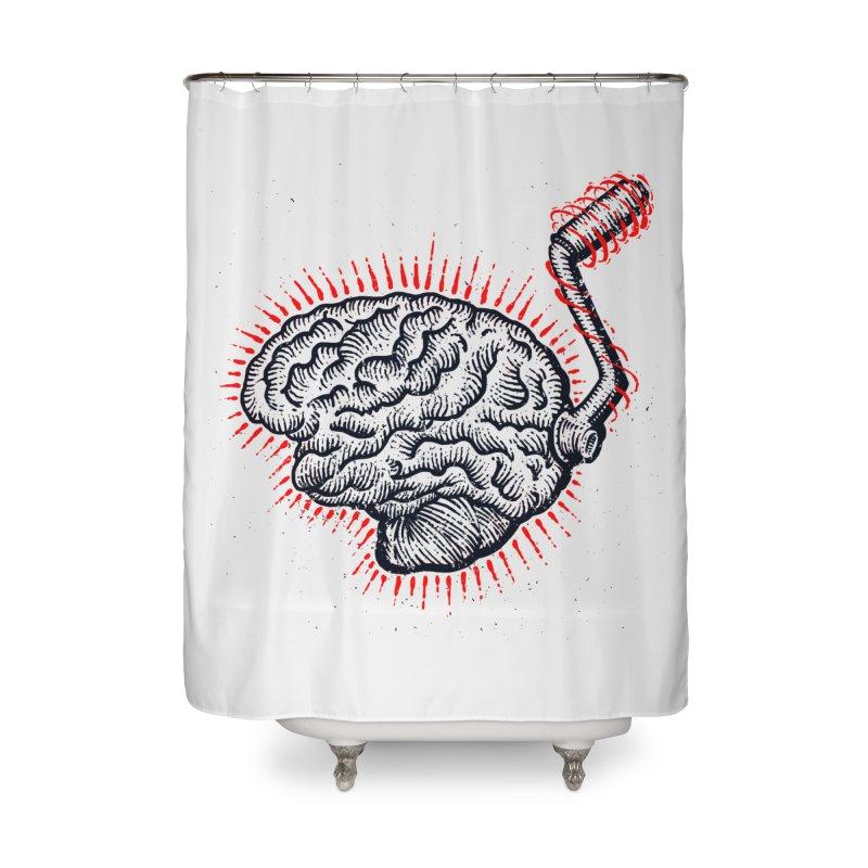 Brain Moto Home Shower Curtain by barmalisiRTB