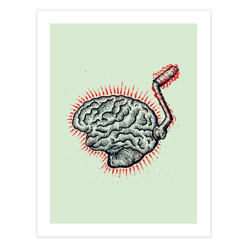 Brain Moto Home Fine Art Print by barmalisiRTB