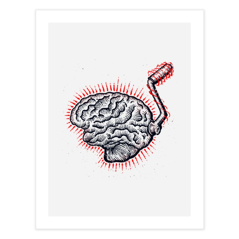 Brain Moto Home Fine Art Print by barmalisiRTB