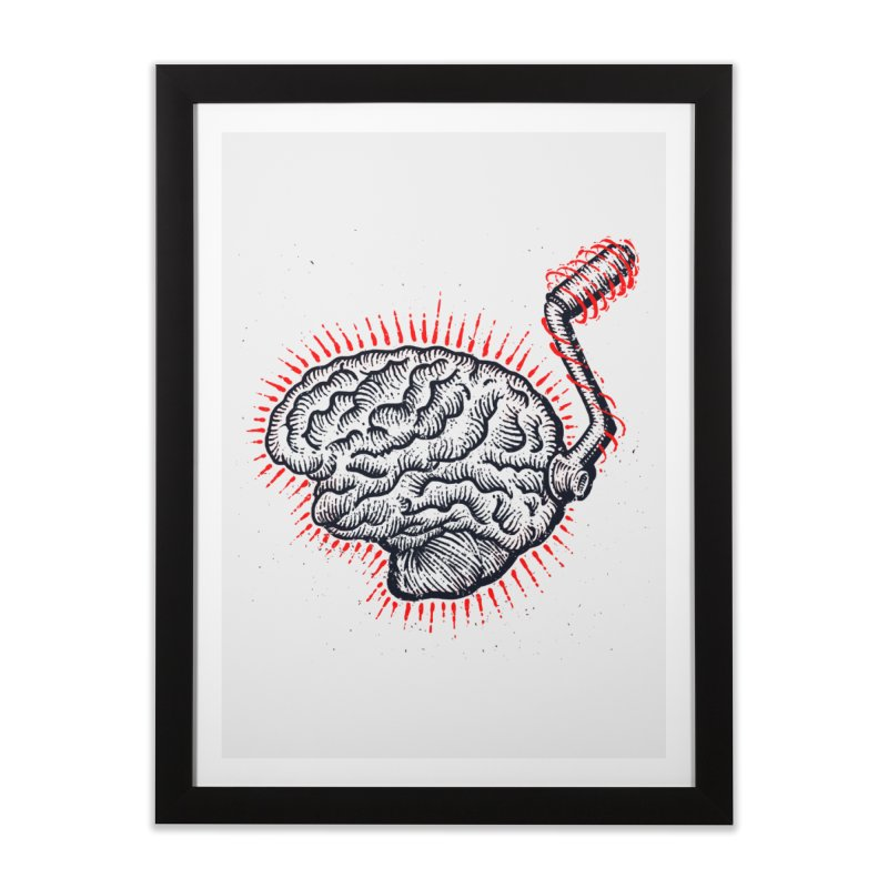 Brain Moto Home Framed Fine Art Print by barmalisiRTB