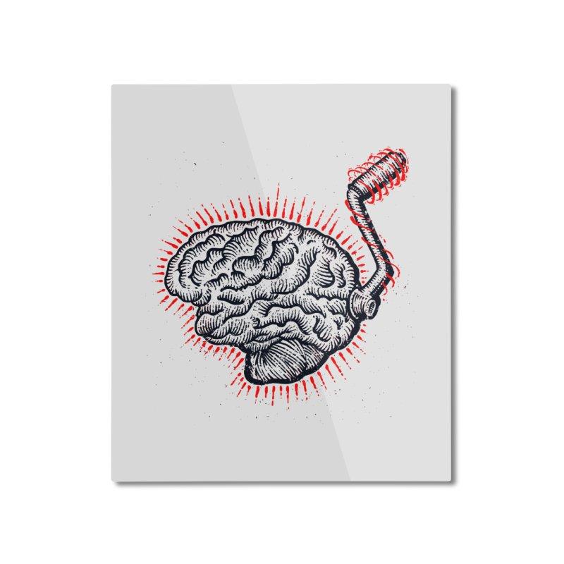 Brain Moto Home Mounted Aluminum Print by barmalisiRTB