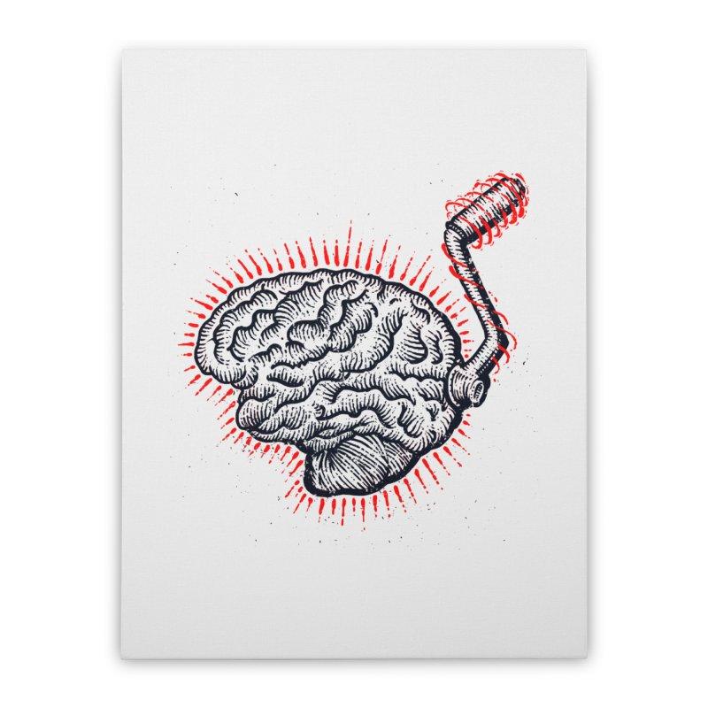 Brain Moto Home Stretched Canvas by barmalisiRTB