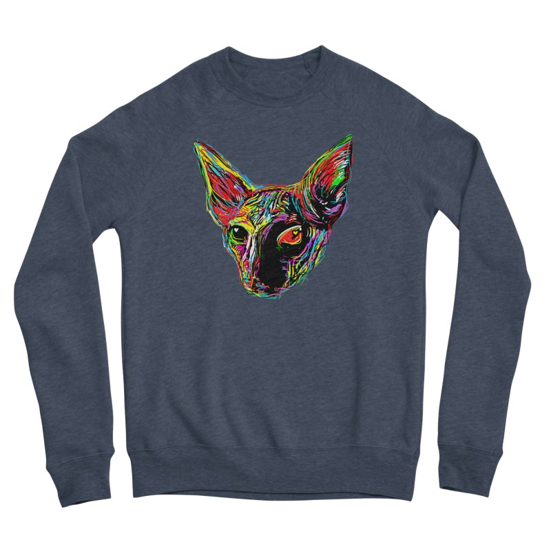 Sphynx cat Love Men's Sponge Fleece Sweatshirt by barmalisiRTB