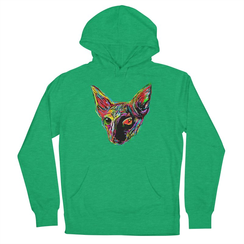 Sphynx cat Love Men's French Terry Pullover Hoody by barmalisiRTB