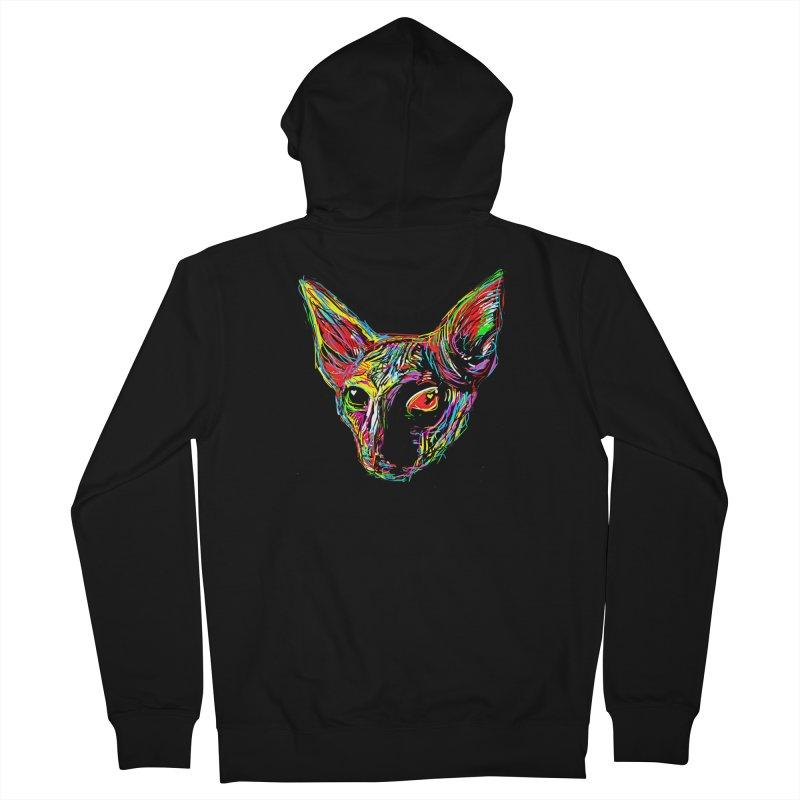 Sphynx cat Love Men's Zip-Up Hoody by barmalisiRTB