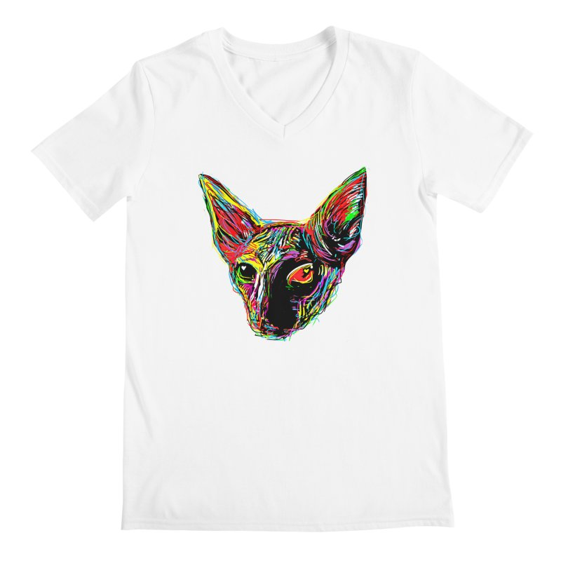 Sphynx cat Love Men's V-Neck by barmalisiRTB
