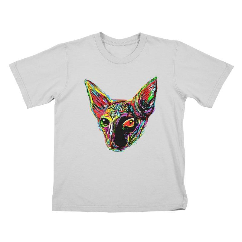 Sphynx cat Love Kids T-Shirt by barmalisiRTB