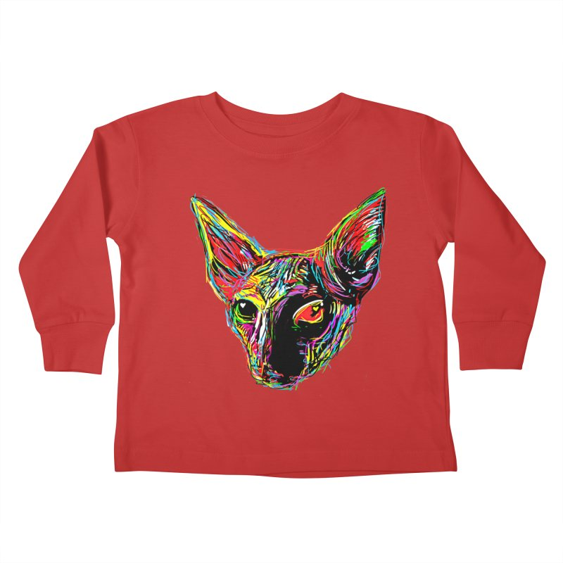 Sphynx cat Love Kids Toddler Longsleeve T-Shirt by barmalisiRTB