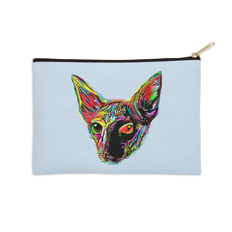 Sphynx cat Love Accessories Zip Pouch by barmalisiRTB