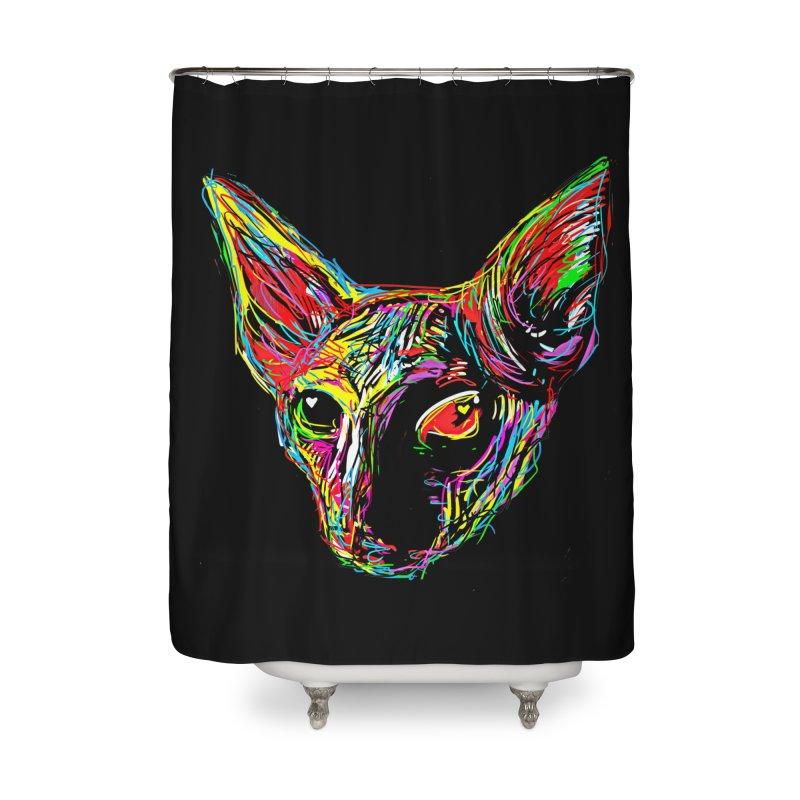 Sphynx cat Love Home Shower Curtain by barmalisiRTB