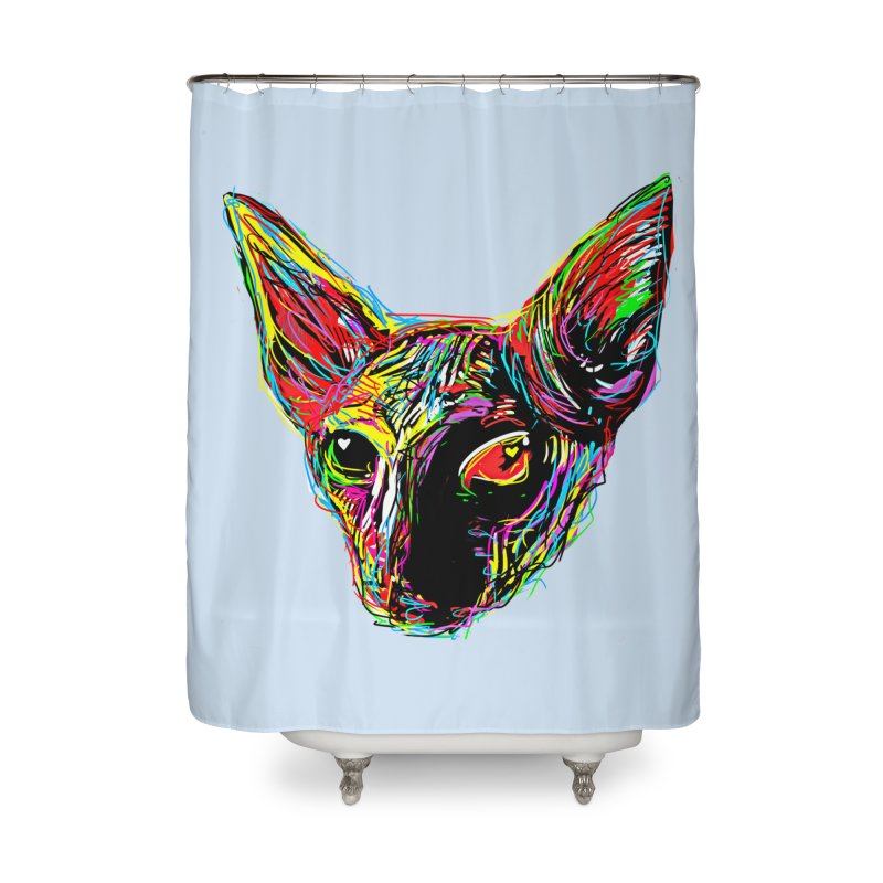 Sphynx cat Love Home Shower Curtain by barmalisiRTB